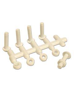 Plastic Rivets. Pack of 5