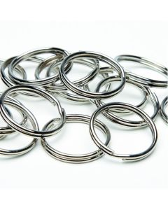 Steel Split Keyrings. Pack of 100