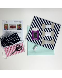 Face Mask Kit (Pack of 2) Mint and Navy/White