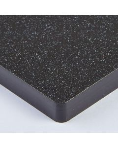 Perspex Cast Acrylic Sheet - 1000 x 500 x 5mm - Black Sparkle