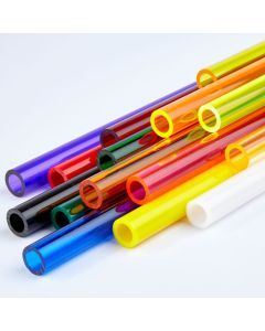 Coloured Round Extruded Acrylic Tubes - 6.4mm Outer Diameter