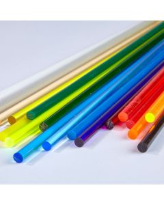 Coloured Round Extruded Acrylic Rods - 4.8mm dia.