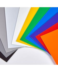 Coloured High Impact Polystyrene Sheets - 457 x 254mm - Mixed Packs