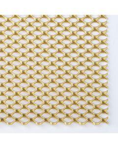 Gold Anodised Mesh Sheet - 300 x 150 x 1mm