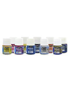 Pebeo Setacolor Shimmer Paints. Set of 10