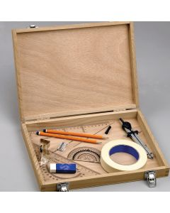 Technical Drawing Kit In Wooden Box